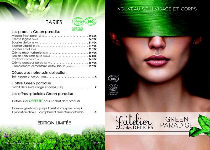 tarifs green paradise