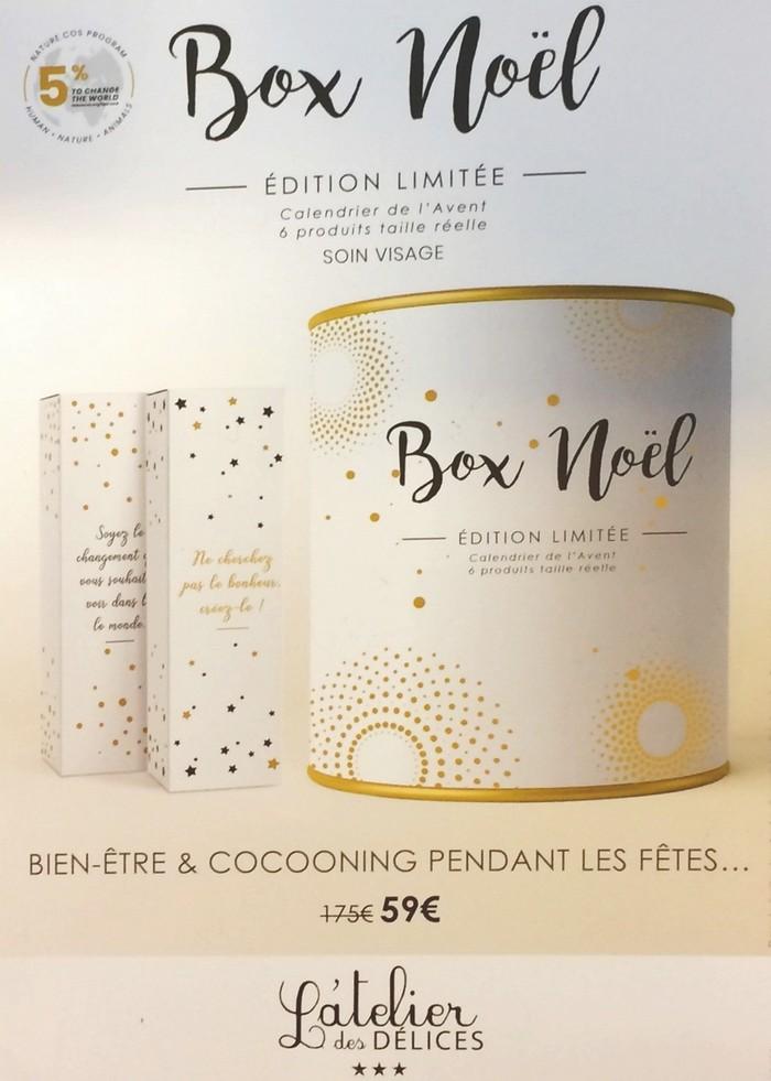 Box Noël Édition Limitée L'Atelier des Délices Soin Visage